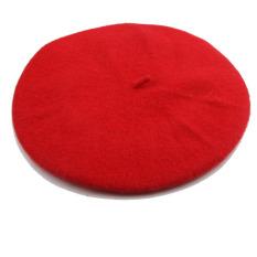 Beli Hequ Campuran Wol Topi Baret Topi Kupluk Merah Baru
