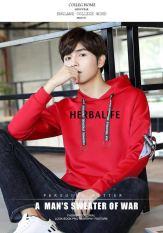 Herbalife Nyaman Lengan Panjang Baru Hangat Kaos Sweater (Merah)