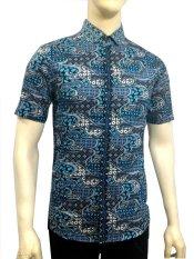 Harga Herman Batik B7812 Baju Kemeja Batik Pria Slimfit Fashion Jeans Muslim Koko Satu Set