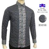 Promo Herman Batik B9098 Baju Kemeja Batik Slimfit Fashion Pria Jeans Muslim Koko Indonesia