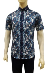 Jual Herman Batik Kemeja Batik Slimfit B7873 Pria Kombinasi Muslim Koko Jeans Herman Online