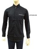 Jual Herman Batik Kemeja Batik Slimfit B8149 Pria Kombinasi Muslim Koko Jeans Baru