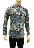 Herman Batik Kemeja Batik Slimfit B9313 Baju Fashion Pria Muslim Koko Jeans Herman Diskon