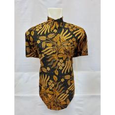 hersa shop/kemeja pendek batik sogan pria batik pria