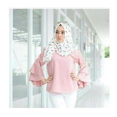 Harga Hfashion Atasan Wanita Micell Top Pink Baru