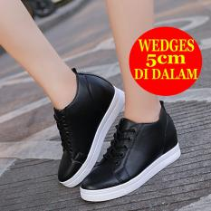 Hidden wedges Sneakers wanita BD04 Hitam