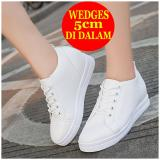 Jual Hidden Wedges Sneakers Wanita Bd04 Putih Antik