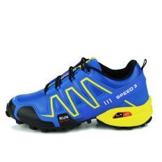 Kenyamanan Tinggi Trail Menjalankan Sepatu untuk Pria SPEED 3 Sport Sepatu Cross Country Outdoor Sepatu Sneakers Menjalankan Hombre Jogging Sepatu (Biru) -Intl