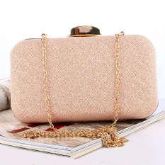 Harga Bermutu Tinggi Mewah Wanita Clutch Ruangan Pesta Malam Tas Tangan Dompet Card Holder Dompet Dompet Rose Gold Intl Lengkap
