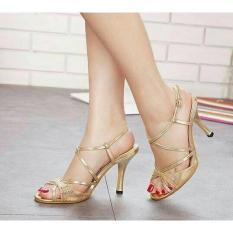 Jual High Heel Heels Mewah Cantik Murah Pesta Tali Gold Murah