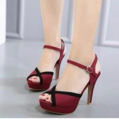 Jual Beli High Heel Suede Cantik Bq Hhl3640 Merah