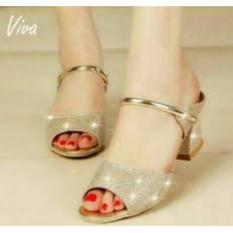 Jual Sepatu Wanita High Heel Alf Gold Glitter 3640 Murah Jawa Barat