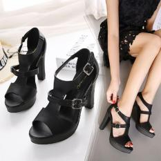 Cuci Gudang High Heels Black Sintetis Ip01