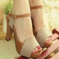 High Heels Extra Cream- Sepatu Sandal Pesta & Kerja Wanita - Cdoejl