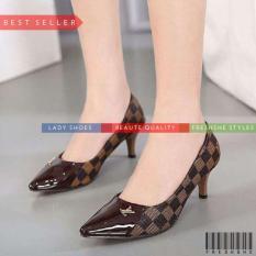 High Heels Fb1009 Sp 050 Coklat Sepatu Wanita Murah Berkualitas Indonesia Diskon 50