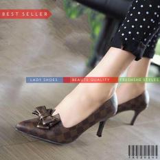 Jual High Heels Fb1011 Sp 043 Coklat Sepatu Wanita Murah Berkualitas Murah Di Indonesia