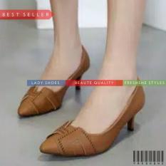 Penawaran Istimewa High Heels Fb1194 St11 Coklat Sepatu Wanita Murah Berkualitas Terbaru