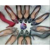 Jual High Heels Premium Sepatu Import Wanita Murah Kerja Pesta Kuliah Santai Logo Manolo Multi