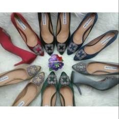 Spesifikasi High Heels Premium Sepatu Import Wanita Murah Kerja Pesta Kuliah Santai Logo Manolo Bagus