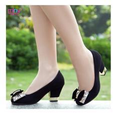 Jual High Heels Wanita Pantofel Pita Crystal Og07 Import