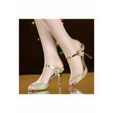 Jual Beli High Heels Wanita Pesta Gold Krd19 Banten