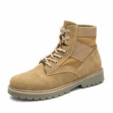 Jual High Qualit Men Fashion Low Top Boot Male Outdoor Pu Leather Work Boots Shoes Kasut But Intl Import