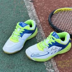 Anak Berkualitas Tinggi Profesional Bulutangkis Sepatu Non-slip Bernapas Keringat Bulutangkis Sepatu (Hijau)-Intl