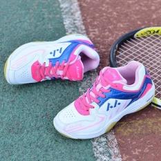 Anak Berkualitas Tinggi Profesional Bulutangkis Sepatu Non-slip Bernapas Keringat Bulutangkis Sepatu (Pink)-Intl