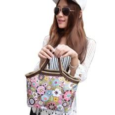 Ulasan Mengenai High Quality Mode Portable Bunga Tas Kotak Makan Paket Makan Siang Lunch Food Bags Intl
