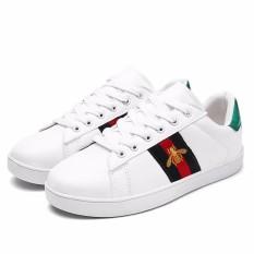 Toko High Quality Fashion Women Bee Embroidery Flat Sneakers Casual Shoes Women Outdoor Running Sport Shoes Intl Terlengkap Di Tiongkok
