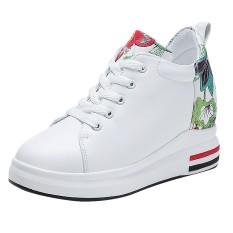 Harga Termurah High Quality Fashion Women Embroidery Platform Casual Shoes Within The Higher Sneskers Intl