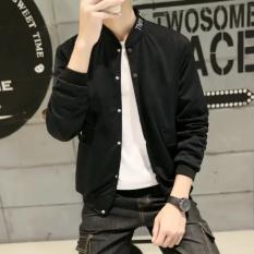 Spek Kualitas Tinggi Pengiriman Cepat Jaket Pria Edisi Korea Trim Jeans Kasual Youth Siswa Coat Tartan Intl Oem