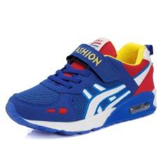 Diskon High Quality Kids Shoes Magic Stickers Children Sport Shoes Breathable Boy Air Cushion Running Shoes Intl Tiongkok
