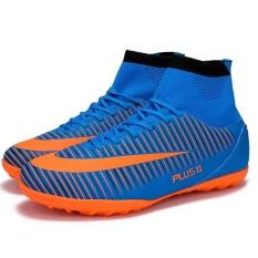 Berkualitas Tinggi Terbaru Soccer Sepatu Pria Fashion Outdoor Nyaman Bernapas Sepatu Sepak Bola (ukuran 33-44)-Intl