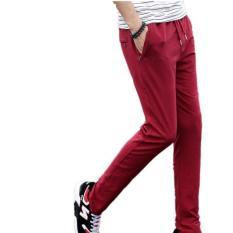 Toko Tinggi Kualitas Men Leisure Celana Panjang Merajut Musim Semi Musim Gugur Pria Cotton Long Sports Man Merah Oem Online