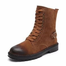 Jual High Quality Men Shoes Man Ankle Boot Leather Work Boot Shoes Kasut Lelaki Lelaki Intl Grosir