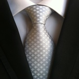 Penawaran Istimewa Tinggi Kualitas Pria Formal Komersial Tie Strip Paisley Polyester Sutra Dasi Untuk Bisnis Kasual Pesta Pernikahan Vintage Ties Silver Intl Terbaru