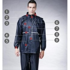 Harga High Quality Motorcycle Waterproof Rain Coat Jas Hujan Hitam Waterproof Baru