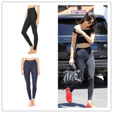 Cepat-kering Berkualitas Tinggi Bahan Wanita Yoga Celana Gym Celana Running Tights Wanita Legging Olahraga Kebugaran (biru) -Intl