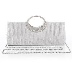 Jual High Quality Women Lady Satin Wvening Bags Purse Clutch Box Handbags Wedding Clutch Cyst Al Bling Bling Party Shoulder Luxury White Intl Satu Set