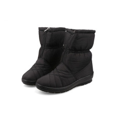 Spesifikasi Berkualitas Tinggi Wanita Salju Boots Tahan Air Musim Dingin Hangat Plush Sepatu Wanita Ukuran Besar Hitam Intl Oem