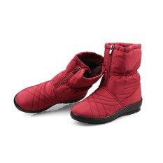 Jual Wanita Yang Berkualitas Tinggi Sepatu Bot Salju Musim Dingin Hangat Mewah Tahan Air Sepatu Wanita Ukuran Besar Merah Internasional Antik