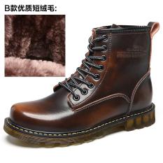 Toko Qualiy Tinggi Lace Up Martin Boots Leather Motorcycle Boots Untuk Pria Brown Intl Oem Di Tiongkok