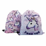 Spesifikasi Tinggi Service Cute 2 Pcs Unicorn Emoji Ransel Rucksack Tas Pe Girls Dance Gym Bag Sch**l Swim Pink Intl