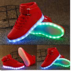 Spesifikasi Differences Bagian Tanaman Tinggi Lampu Led Renda Adapula Olahraga Sepatu Bercahaya Sepatu Kasual Merah Oem Terbaru