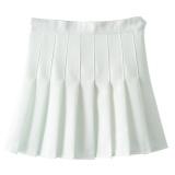 Promo High Waist A Line Pleated Tennis Solid Mini Skirt White Intl Tiongkok