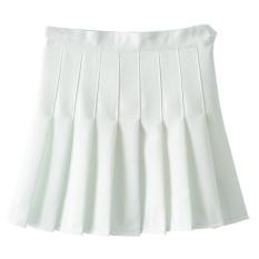 Beli High Waist A Line Pleated Tennis Solid Mini Skirt White Intl Yang Bagus
