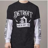 Spek High5 Fashion Kaos Lengan Panjang Detroit Hitam