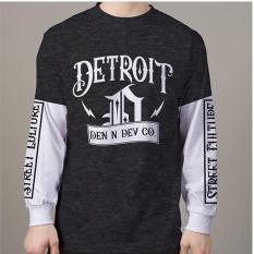 Jual High5 Fashion Kaos Lengan Panjang Detroit Hitam