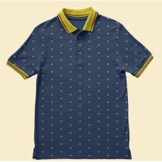 High5 Fashion Kaos Polo Origami Biru Terbaru